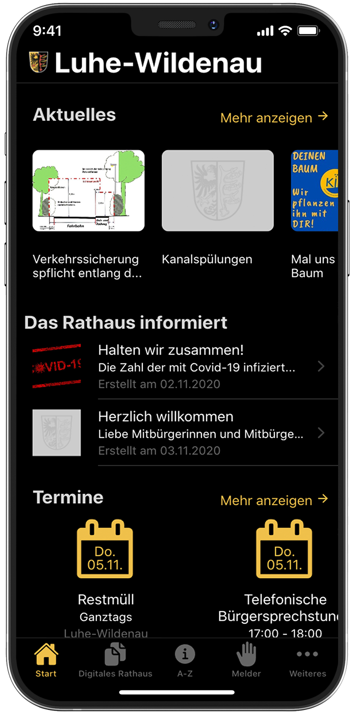 iPhone Screenshot Bürger-App Luhe-Wildenau